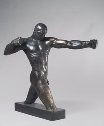 Vuk Vuchinich (American, 1901-1974). <em>The Archer</em>, 1933. Bronze, 49 1/2 x 33 1/2 x 7 1/2 in. (125.7 x 85.1 x 19.1 cm). Brooklyn Museum, Ella C. Woodward Memorial Fund, 35.951. © artist or artist's estate (Photo: Brooklyn Museum, 35.951.jpg)