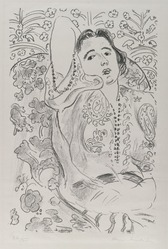 Henri Matisse (French, 1869-1954). <em>Arabesque</em>, 1924. Lithograph on loose China paper, Sheet: 25 3/8 x 18 1/2 in. (64.5 x 47 cm). Brooklyn Museum, Frank L. Babbott Fund, 36.53. © artist or artist's estate (Photo: Brooklyn Museum, 36.53_PS2.jpg)
