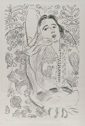 Henri Matisse (French, 1869-1954). <em>Arabesque</em>, 1924. Lithograph on loose China paper, Sheet: 25 3/8 x 18 1/2 in. (64.5 x 47 cm). Brooklyn Museum, Frank L. Babbott Fund, 36.53. © artist or artist's estate (Photo: Brooklyn Museum, 36.53_PS2.jpg)