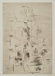 Georges Braque (French, 1882-1963). <em>Fox</em>, 1911. Drypoint on laid paper, image: 21 1/2 x 14 7/8 in. (54.6 x 37.8 cm). Brooklyn Museum, A. Augustus Healy Fund, 36.59. © artist or artist's estate (Photo: Brooklyn Museum, 36.59_PS2.jpg)