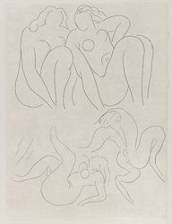 "Henri Matisse (French, 1869-1954). <em>[Untitled] (Headpiece for the Poem ""L'Après-Midi d'un Faune"")</em>, 1932. Etching on wove paper, Sheet: 13 x 9 3/4 in. (33 x 24.8 cm). Brooklyn Museum, Carll H. de Silver Fund, 36.67.14. © artist or artist's estate (Photo: Brooklyn Museum, 36.67.14_PS2.jpg)"