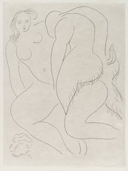 "Henri Matisse (French, 1869-1954). <em>[Untitled] (Illustration for the Poem ""L'Après-midi d'un Faune"")</em>, 1932. Etching on wove paper, Sheet: 13 1/4 x 9 7/8 in. (33.7 x 25.1 cm). Brooklyn Museum, Carll H. de Silver Fund, 36.67.16. © artist or artist's estate (Photo: Brooklyn Museum, 36.67.16_PS2.jpg)"