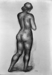 Aristide Maillol (French, 1861-1944). <em>Ovide: L'Art d'Aimer</em>, 1935. Book with woodcuts and twelve lithographs on handmade laid paper, 172 pages, each approximately: 15 1/16 x 11 1/8 in. (38.3 x 28.3 cm). Brooklyn Museum, By exchange, 36.914. © artist or artist's estate (Photo: Brooklyn Museum, 36.914_acetate_bw.jpg)