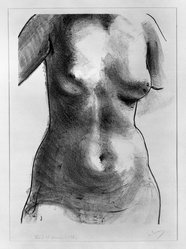 André Derain (French, 1880-1954). <em>Torso of a Woman</em>. Lithograph on laid paper, 18 1/8 x 13 9/16 in. (46 x 34.5 cm). Brooklyn Museum, By exchange, 36.917. © artist or artist's estate (Photo: Brooklyn Museum, 36.917_bw.jpg)