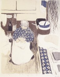 Édouard Vuillard (French, 1868-1940). <em>The Cook (La Cuisinière)</em>, 1899. Color lithograph on China paper, Image: 14 x 11 1/16 in. (35.6 x 28.1 cm). Brooklyn Museum, By exchange, 37.149.12. © artist or artist's estate (Photo: Brooklyn Museum, 37.149.12_transp1277.jpg)