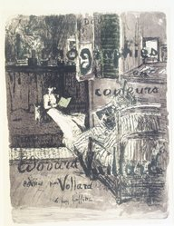 Édouard Vuillard (French, 1868-1940). <em>Cover for the Album Paysages et Intérieurs (Couverture de l'Album Paysages et Intérieurs)</em>, 1899. Color lithograph on wove paper, Image: 20 5/16 x 15 3/8 in. (51.6 x 39.1 cm). Brooklyn Museum, By exchange, 37.149.1. © artist or artist's estate (Photo: Brooklyn Museum, 37.149.1_transp1275.jpg)