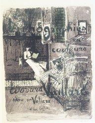 Édouard Vuillard (French, 1868-1940). <em>Cover for the Album Paysages et Intérieurs (Couverture de l'Album Paysages et Intérieurs)</em>, 1899. Color lithograph on wove paper, Image: 20 5/16 x 15 3/8 in. (51.6 x 39.1 cm). Brooklyn Museum, By exchange, 37.149.1. © artist or artist's estate (Photo: Brooklyn Museum, 37.149.1_transp1275.jpg)