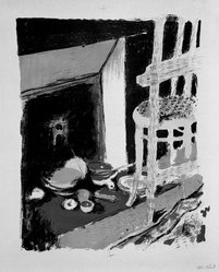 Édouard Vuillard (French, 1868-1940). <em>The Hearth (L'Atre)</em>, 1899. Color lithograph on China paper, Image: 13 3/8 x 11 in. (34 x 27.9 cm). Brooklyn Museum, By exchange, 37.149.9. © artist or artist's estate (Photo: Brooklyn Museum, 37.149.9_bw_IMLS.jpg)