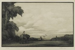 Thomas Willoughby Nason (American, 1889-1971). <em>Morning</em>, 1937. Wood engraving on thin wove paper, Sheet: 9 1/8 x 12 in. (23.2 x 30.5 cm). Brooklyn Museum, 37.607. © artist or artist's estate (Photo: Brooklyn Museum, 37.607_PS2.jpg)