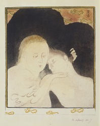 Maurice Denis (French, 1870-1943). <em>Tendresse</em>, 1893. Lithograph on wove paper, 11 13/16 x 9 7/8 in. (30 x 25.1 cm). Brooklyn Museum, Charles Stewart Smith Memorial Fund, 38.336. © artist or artist's estate (Photo: , 38.336_SL3.jpg)