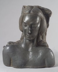 Jose de Creeft (American, born Spain, 1884-1982). <em>Semitic Head</em>, 1936. Lead and concrete, 31 1/2 x 27 9/16 x 18 1/2 in. (80 x 70 x 47 cm). Brooklyn Museum, Dick S. Ramsay Fund, 38.557. © artist or artist's estate (Photo: Brooklyn Museum, 38.557.jpg)