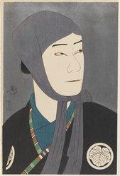 Yoshikawa Kanpo (Japanese, 1894-1979). <em>Actor Nakamura Ganjiro I as Kamiya Jihei</em>, published 1922. Woodblock color print, mica background, 16 1/8 x 10 9/16 in. (41 x 26.8 cm). Brooklyn Museum, Gift of Louis V. Ledoux, 40.138 (Photo: Brooklyn Museum, 40.138_IMLS_PS3.jpg)