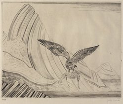 Joseph Hecht (Polish, 1891-1951). <em>Eagle and Gazelle</em>, 1929. Engraving Brooklyn Museum, Gift of William M. Lybrand, 41.1316. © artist or artist's estate (Photo: Brooklyn Museum, 41.1316_PS9.jpg)
