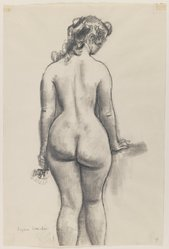 Eugene E. Speicher (American, 1883-1962). <em>Nude Study</em>, n.d. Crayon or charcoal on paper, Sheet: 15 15/16 x 10 9/16 in. (40.5 x 26.8 cm). Brooklyn Museum, Dick S. Ramsay Fund, 41.508. © artist or artist's estate (Photo: Brooklyn Museum, 41.508_IMLS_PS3.jpg)