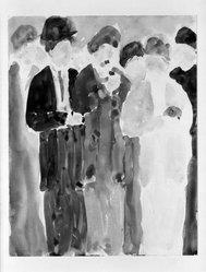 Helen West Heller (American, 1872-1955). <em>Hooves</em>. Woodcut, 7 5/8 x 12 3/16 in. (19.3 x 31 cm). Brooklyn Museum, Dick S. Ramsay Fund, 41.56. © artist or artist's estate (Photo: Brooklyn Museum, 41.56_bw.jpg)