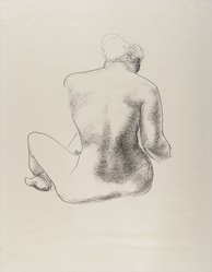 Isamu Noguchi (American, 1904-1988). <em>Model</em>, ca. early 1930s. Ink on thin, slightly textured cream colored paper, sheet: 22 1/8 x 17 3/8 in. (56.2 x 44.1 cm). Brooklyn Museum, Dick S.Ramsay Fund, 41.975. © artist or artist's estate (Photo: Brooklyn Museum, 41.975_IMLS_PS4.jpg)
