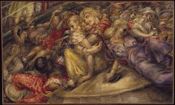 Reginald Marsh (American, 1898-1954). <em>The Bowl</em>, 1933. Egg tempera on pressed wood panel, 35 7/8 x 59 15/16in. (91.1 x 152.2cm). Brooklyn Museum, Gift of William T. Evans, by exchange, 42.404. © artist or artist's estate (Photo: Brooklyn Museum, 42.404_SL1.jpg)