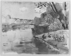 John C. Pellew (American, born 1903). <em>Grey Day, Franconia</em>, 1942. Tempera, 19 1/8 x 23 1/16 in. (48.5 x 58.5 cm). Brooklyn Museum, Henry L. Batterman Fund, 43.107. © artist or artist's estate (Photo: Brooklyn Museum, 43.107_acetate_bw.jpg)
