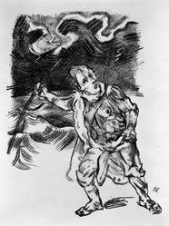 Oskar Kokoschka (Austrian, 1886-1980). <em>Persian War</em>, 1969. Lithograph on laid paper, 16 5/16 x 12 1/2 in. (41.5 x 31.7 cm). Brooklyn Museum, By exchange, 43.183. © artist or artist's estate (Photo: Brooklyn Museum, 43.183_bw_IMLS.jpg)