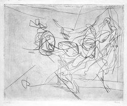 Stanley William Hayter (British, 1901-1988). <em>Combat, Second State</em>, 1936. Engraving, Other (Plate): 15 3/4 x 19 3/8in. (40 x 49.2cm). Brooklyn Museum, By exchange, 43.238.5. © artist or artist's estate (Photo: Brooklyn Museum, 43.238.5_bw.jpg)