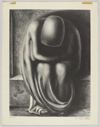Leo Katz (American, 1887-1992). <em>Homeless</em>, 1944. Lithograph, Sheet and Image: 17 3/4 x 14 in. (45.1 x 35.6 cm). Brooklyn Museum, Anonymous gift, 44.44.5. © artist or artist's estate (Photo: Brooklyn Museum, 44.44.5_PS4.jpg)