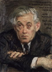 Raphael Soyer (American, born Russia, 1899-1987). <em>Abraham Walkowitz</em>, 1940. Oil on canvas, 19 x 15 in. (48.3 x 38.1 cm). Brooklyn Museum, Gift of Abraham Walkowitz, 44.66. © artist or artist's estate (Photo: Brooklyn Museum, 44.66_transp3344.jpg)