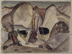 Marguerite Thompson Zorach (American, 1887-1968). <em>Lost Lake, Yosemite</em>, 1920. Watercolor over graphite on cream, moderately thick, slightly textured, wove paper, 10 1/16 x 13 5/8 in. (25.6 x 34.6 cm). Brooklyn Museum, Gift of Ettie Stettheimer, 45.122. © artist or artist's estate (Photo: Brooklyn Museum, 45.122.jpg)