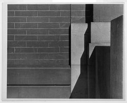 Arnold Newman (American, 1918-2006). <em>Brick Abstract</em>. Photograph, 7 1/2 × 9 1/2 in. (19.1 × 24.1 cm). Brooklyn Museum, Gift of the artist, 45.15.2. © artist or artist's estate (Photo: Brooklyn Museum, 45.15.2_bw.jpg)