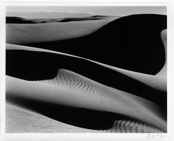 Edward Weston (American, 1886-1958). <em>Dunes, Oceano, California</em>, 1936. Gelatin silver photograph, Image: 7 1/2 x 9 1/2 in. (19.1 x 24.1 cm). Brooklyn Museum, Frank L. Babbott Fund and Frederick Loeser Fund, 46.75.1. © artist or artist's estate (Photo: Brooklyn Museum, 46.75.1_bw.jpg)