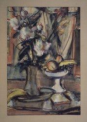 Sigmund Menkes (American, born 1896). <em>Peonies</em>. Watercolor on paper Brooklyn Museum, Dick S. Ramsay Fund, 47.104. © artist or artist's estate (Photo: Brooklyn Museum, 47.104.jpg)