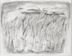 Frances Pratt (American, 1913-2003). <em>The Grasses</em>. Watercolor on paper