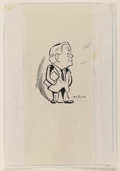 Arthur Young (American). <em>Abraham Walkowitz, A Caricature</em>, 1943. Pen and ink on paper, sheet: 9 x 6 1/4 in. (22.9 x 15.9 cm). Brooklyn Museum, Gift of Abraham Walkowitz, 47.146.1. © artist or artist's estate (Photo: Brooklyn Museum, 47.146.1_IMLS_PS3.jpg)