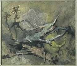 Jan Hoowij (American, born Holland, 1907-1987). <em>Driftwood</em>, 1947. Oil on masonite, 35 1/4 x 39 1/4 in. (89.5 x 99.7 cm). Brooklyn Museum, Gift of Hugh W. Long, 47.199. © artist or artist's estate (Photo: Brooklyn Museum, 47.199.jpg)