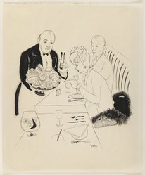 Susanne Suba (American, born Hungary, 1913-2012). <em>French Pastries</em>, 20th century. Pen and ink on paper, sheet: 16 13/16 x 13 7/8 in. (42.7 x 35.2 cm). Brooklyn Museum, Dick S. Ramsay Fund, 48.100.2. © artist or artist's estate (Photo: Brooklyn Museum, 48.100.2_IMLS_PS3.jpg)
