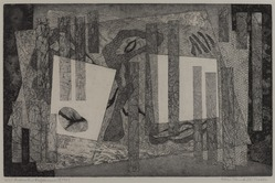 Alice Trumbull Mason (American, 1904-1971). <em>Indicative Displacement</em>, 1947. Soft-ground etching on paper, image: 10 1/4 x 15 7/8 in. (26 x 40.3 cm). Brooklyn Museum, Dick S. Ramsay Fund, 48.48. © artist or artist's estate (Photo: , 48.48_PS9.jpg)