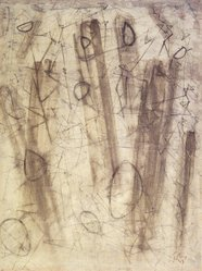 Mark Tobey (American, 1890-1976). <em>Island Memories</em>, 1947. Watercolor on paper, 24 3/4 x 18 3/4 in. (62.9 x 47.6 cm). Brooklyn Museum, Henry L. Batterman Fund, 49.117. © artist or artist's estate (Photo: Brooklyn Museum, 49.117.jpg)