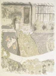 Édouard Vuillard (French, 1868-1940). <em>The Garden in Front of the Studio (Le Jardin devant l'atelier)</em>, 1901. Color lithograph on wove paper, Image: 24 1/2 x 18 5/8 in. (62.2 x 47.3 cm). Brooklyn Museum, A. Augustus Healy Fund and Museum Collection Fund, 49.34. © artist or artist's estate (Photo: Brooklyn Museum, 49.34_transpc007.jpg)