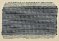 Anni Albers (American, 1899-1994). <em>Drapery Material Sample</em>, 1936-1950. Light blue silk and white cotton, mat: 9 x 12 in. (22.9 x 30.5 cm). Brooklyn Museum, Gift of Anni Albers, 50.176.15. © artist or artist's estate (Photo: Brooklyn Museum, 50.176.15_PS9.jpg)