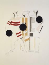 El Lissitzky (Russian, 1890-1941). <em>Part of the Show Machinery (Teil der Schaumaschinerie)</em>, 1923. Lithograph on heavy wove paper, 17 15/16 x 14 in. (45.5 x 35.5 cm). Brooklyn Museum, By exchange, 50.191.1. © artist or artist's estate (Photo: Brooklyn Museum, 50.191.1_transpc002.jpg)