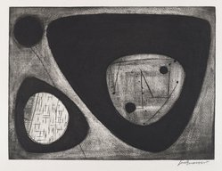 Jose Guerrero (American, 1914-1992). <em>Number 6</em>, 1950. Engraving and etching Brooklyn Museum, Dick S. Ramsay Fund, 51.39. © artist or artist's estate (Photo: Brooklyn Museum, 51.39_PS4.jpg)