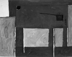 William George Scott, RA (British, 1913-1989). <em>Kitchen Forms</em>, ca. 1953. Watercolor, Image: 19 1/2 x 24 3/4 in. (49.5 x 62.9 cm). Brooklyn Museum, Carll H. de Silver Fund, 53.145. © artist or artist's estate (Photo: Brooklyn Museum, 53.145_acetate_bw.jpg)