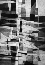 John Paul Jones (American, 1924-1999). <em>Suspension</em>, 1953. Etching and engraving, 21 9/16 x 14 15/16 in. (54.7 x 38 cm). Brooklyn Museum, Dick S. Ramsay Fund, 53.30. © artist or artist's estate (Photo: Brooklyn Museum, 53.30_acetate_bw.jpg)