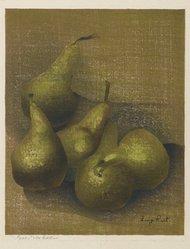 Luigi Rist (American, 1888-1959). <em>Pears</em>, n.d. Woodcut on paper, image: 9 x 7 1/4 in. (22.9 x 18.4 cm). Brooklyn Museum, Dick S. Ramsay Fund, 54.107.1. © artist or artist's estate (Photo: Brooklyn Museum, 54.107.1_PS6.jpg)