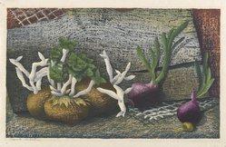 Luigi Rist (American, 1888-1959). <em>Sprouts</em>, 1952. Woodcut on paper, 9 1/2 x 15 5/8 in. (24.1 x 39.7 cm). Brooklyn Museum, Dick S. Ramsay Fund, 54.107.2. © artist or artist's estate (Photo: Brooklyn Museum, 54.107.2_PS6.jpg)
