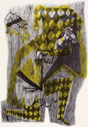 Ted Carr. <em>Pierrot</em>, 1954. Lithograph, Sheet: 18 7/8 x 24 7/8 in. (47.9 x 63.2 cm). Brooklyn Museum, Gift of Artists Equity, Chicago Chapter, 54.153.27. © artist or artist's estate (Photo: Brooklyn Museum, 54.153.27.jpg)