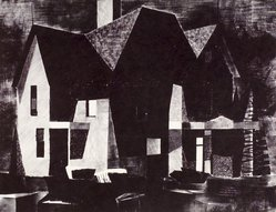 Norbert Smith. <em>Old House</em>, 1954. Lithograph, Sheet: 18 7/8 x 24 7/8 in. (47.9 x 63.2 cm). Brooklyn Museum, Gift of Artists Equity, Chicago Chapter, 54.153.30. © artist or artist's estate (Photo: Brooklyn Museum, 54.153.30.jpg)