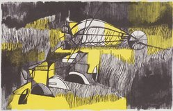 Franklin McMahon. <em>Farm Machinery</em>, 1954. Lithograph, Sheet: 18 7/8 x 24 7/8 in. (47.9 x 63.2 cm). Brooklyn Museum, Gift of Artists Equity, Chicago Chapter, 54.153.35. © artist or artist's estate (Photo: Brooklyn Museum, 54.153.35.jpg)
