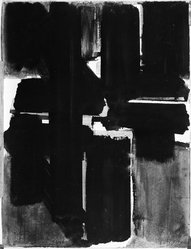 Pierre Soulages (French, born 1919). <em>Untitled No. 1, 1955</em>, 1955. Gouache on paper, 25 5/8 x 19 5/8 in. (65.1 x 49.8 cm). Brooklyn Museum, Frank L. Babbott Fund, 55.111. © artist or artist's estate (Photo: Brooklyn Museum, 55.111_acetate_bw.jpg)