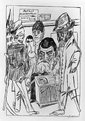 Max Beckmann (German, 1884-1950). <em>The Beggars (Die Bettler)</em>, 1922. Lithograph on wove paper, Image: 18 1/8 x 13 1/4 in. (46 x 33.7 cm). Brooklyn Museum, Gift of Dr. F.H. Hirschland, 55.165.59. © artist or artist's estate (Photo: Brooklyn Museum, 55.165.59_bw_IMLS.jpg)