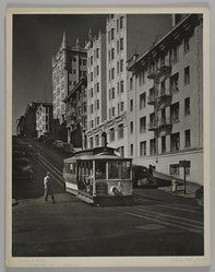 Mildred E. Hatry (American, 1893-1973). <em>A Street in San Francisco</em>. Photograph, 19 7/8 x 15 3/4 in. (50.5 x 40 cm). Brooklyn Museum, Gift of Mrs. Harry Hatry, 55.187.5. © artist or artist's estate (Photo: , 55.187.5_PS4.jpg)